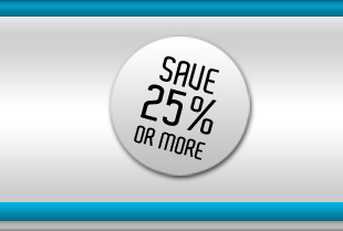Save 25% or more